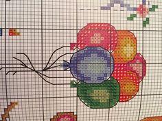 Cross Stitch Designs, Cross Stitch Patterns, Beading Patterns, Knitting Patterns, Cross Stitch For Kids, Stitch 2, Balloons, Mini, Kids Rugs