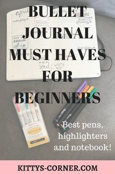 Bullet Journal Must Haves For Beginners
