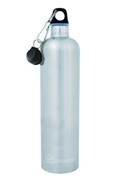 Cheeki Insulated Stainless Steel Water Bottle  Silver  Large 34oz  1Liter Capacity  BPA Free  Double Walled Vacuum Insulated Design  Perfect for Sports Travel Camping Hiking Beach Office Picnics >>> Be sure to check out this awesome product.