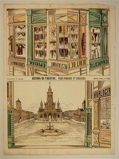 Décors de Théâtre. Place Publique et Coulisses. Imagerie d'Épinal, No. 1524.