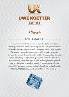 March - Aquamarine Birthstone