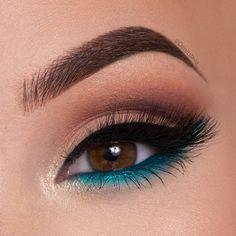 Gorgeous Makeup: Tips and Tricks With Eye Makeup and Eyeshadow – Makeup Design Ideas Makeup Eye Looks, Cute Makeup, Eyeshadow Looks, Pretty Makeup, Eyeshadow Makeup, Eyeshadow Palette, Pop Of Color Eyeshadow, Blue Eyeshadow For Brown Eyes, Gorgeous Makeup