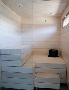 Sauna Design, Tile Floor, New Homes, Spa, Bathtub, Bathroom, Vanity, Relax, Interior Design