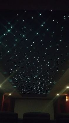 Fiber Optic Star Ceiling For Media Room Complete Step By Tutorial Decoratingideasforkidsroomsceiling Home