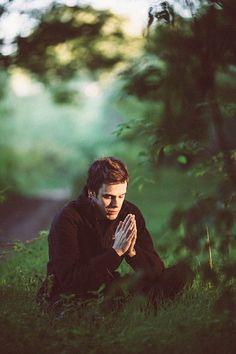 Meditação, Verde, Oração, Floresta, Homem Jovem