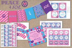 Shop for printable on Etsy, the place to express your creativity through the buying and selling of handmade and vintage goods. Blank Labels, Party Package, Pennant Banners, Printable Party, Thank You Tags, Personalized Invitations, Party Signs, Creative Words, Peace And Love