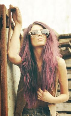 tattoos and pastel hair I wish my hair was this long AND that I could rock this color .....