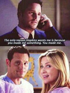Justin Chambers and Jessica Capshaw (Alex Karev and Arizona Robbins) Alizona | Grey's Anatomy - team Peds