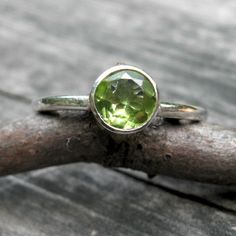 Peridot Ring to celebrate an August birthday.