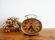 vintage french alarm clock made by JAPY in by FrenchAtticFinds, $65.00