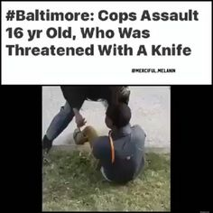 @Regrann from @crackedrosecoloredglasses_us -  This video with the sound gives a totally different perspective of what's going on here. #acab #ftp #Repost @memeremixgang24  Sad Azz shit especially the black female cop. COON ASS WANNA BE STACY DASH @Regrann from @merciful.melanin -  Cops in #Baltimore #Maryland have beaten up and arrested 16 year old #AlonzoCox on Wednesday night. Cox  was being #threatened by 14 year old female with a #knife when police arrived. Police #officers involved…