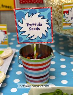 Food at a Dr. Seuss Party #drseuss #partyfood