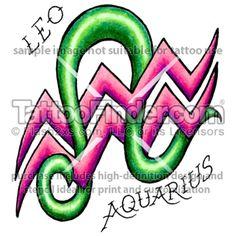 Leo & aquarius tattoo