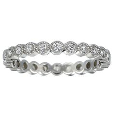 I love Brilliant Earth... I'm loving the emphasis on the shape of the round diamonds [18K White Gold Solstice Eternity Diamond Ring (1/3 ct.tw.) from Brilliant Earth]