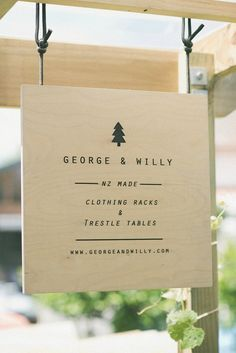 Journal – George and Willy Trestle Table, Made Clothing, Signage, Around The Worlds, Menu, Place Card Holders, Journal, Blog, Inspiration