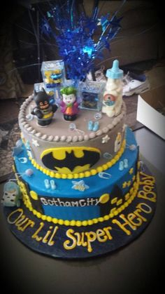 Batman Babyshower Themed Cake