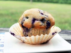Single Serving Blueberry Muffin - less than 150 calories, can be made in the microwave