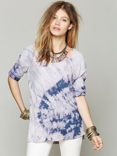 Free People We The Free Blocked Bleach Tee, 19.95