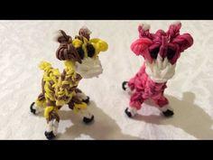 Rainbow Loom Nederlands, 3d giraffe - YouTube