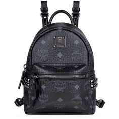 MCM Bebe Boo Backpack ($605) ❤ liked on Polyvore featuring bags, backpacks, blue backpack, mini backpack, studded backpack, mcm backpack and blue crossbody