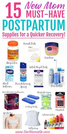 This is the essential list of items you need to have prepared for postpartum rec. This is the essential list of items you need to have prepared for postpartum recovery! These postpartum suppli Postpartum Recovery, Postpartum Care, Best Postpartum Pads, Postpartum Outfits, Postpartum Must Haves, Pregnancy Must Haves, Baby Must Haves, Baby Life Hacks, Pregnancy Care