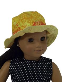 """Sew baby doll sun hats using this Doll hat pattern for your child's 13-18"""" dolls in no time flat. The 18"""" baby doll sun hat sewing pattern fits Bitty Baby and American Girl dolls perfectly! This sewing pattern comes complete with images for each step as well as a printable pattern pieces from your home computer. $2.99"""