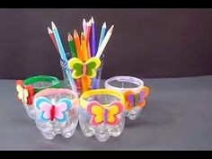 Collection of Creative Crafts Ideas From Used Goods Diy Crafts For Gifts, Diy Home Crafts, Diy Arts And Crafts, Creative Crafts, Crafts To Make, Crafts For Kids, Cardboard Box Crafts, Paper Crafts, Soda Bottle Crafts