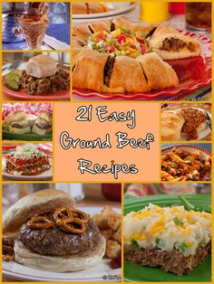21 Easy Ground Beef Recipes - Whether you're trying to find something the kids will like or you just need a quick ground beef dinner, these easy dinner recipes are here to save the day!