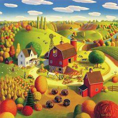 Harvest Bounty Painting  - Harvest Bounty Fine Art Print