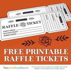 Printable blank raffle tickets free raffle ticket for Office depot raffle ticket template