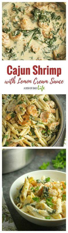 This Cajun Shrimp with Lemon Cream Sauce is easy enough for a weeknight dinner, and elegant enough for a special occasion!  You're going to LOVE the flavor combination! #ad | #shrimp | #pasta | #CreamSauce @hphood