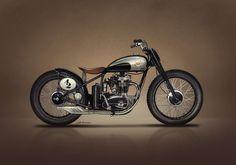 BSA Bobber-Tracker design by Jakusa Design #motorcycles #bobber #motos | caferacerpasion.com