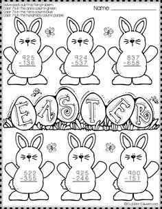Summer 3-Digit Addition with Regrouping Color-by-Code