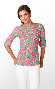 love the sleeves on this Lilly Pulitzer top!