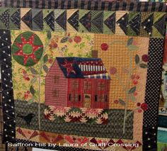 pattern by Sue Spargo ~ love any pattern with a house