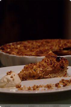 Haselnuss-Apfel-Toffee-Tarte