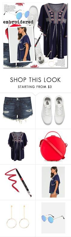 """""""embroidered top"""" by svijetlana ❤ liked on Polyvore featuring 3x1, Vans, Nico Giani, Dollup Beauty, embroideredtop and zaful"""