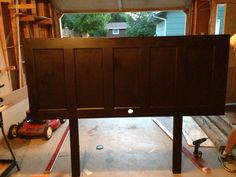 DIY headboard made from old door
