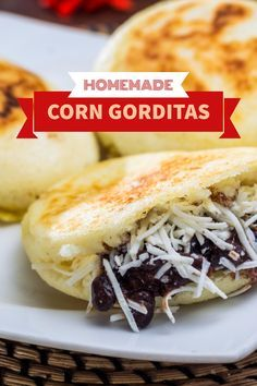 Forget the fast food gorditas you've come to know. These Mexican gorditas are made with authentic masa harina (corn flour) and cooked to perfection. Get the recipe now! Recipes With Masa Flour, Corn Flour Recipes, Masa Recipes, Mexican Food Recipes, Vegetarian Recipes, Cooking Recipes, Healthy Recipes, Mexican Cooking, Corn Masa Recipe