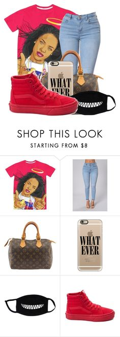 """""""Can you be my friend?"""" by wavysuccess ❤ liked on Polyvore featuring Louis Vuitton, Casetify and Vans"""