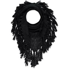 Forever 21 Fringe Marled Triangle Scarf ($8.99) ❤ liked on Polyvore featuring accessories, scarves, triangular scarves, triangular shawl, forever 21, triangle scarves and fringed shawls