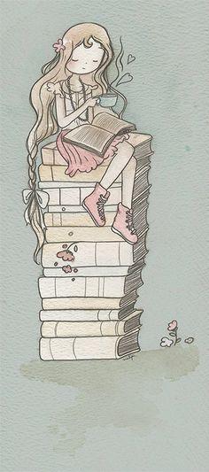 via Malipi #girl #illustration #malipi #book