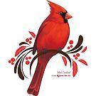 Male Cardinal by sylvanmist