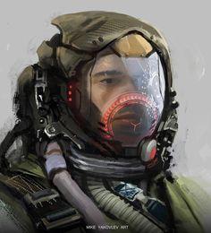 HUD Helmet Concept by MikeYakovlev on DeviantArt