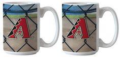 MLB Arizona Diamondbacks Boelter 15 oz Ballpark Mug 2-Pack