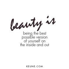 beauty is...