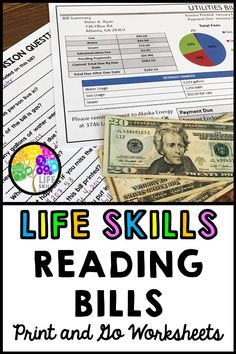 Help your students learn to read different kinds of bills with this print and go packet! Ten comprehension questions included with EACH bill! Excellent for real life skills instruction in the classroom. Life Skills Lessons, Life Skills Activities, Life Skills Classroom, Teaching Life Skills, Autism Classroom, Lessons For Kids, Teaching Reading, Student Learning, Teaching Tools