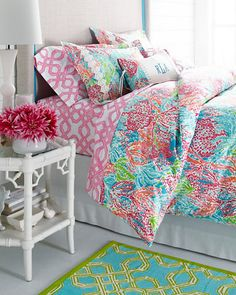 Lilly Pulitzer® Sister Florals Duvet Cover Collection from Garnet Hill. Saved to Home thingsss. Dream Rooms, Dream Bedroom, Girls Bedroom, Bedroom Decor, Bedrooms, Summer Bedroom, Bedroom Ideas, Lilly Pulitzer, Lily Pulitzer Bedding