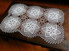 Items similar to Rectangular Crocheted Tablecloth Antique White Lace Table Runner Centerpiece Doily Cottage Chic Cottage Vintage Flower Motifs on Etsy Granny Square Crochet Pattern, Crochet Squares, Crochet Motif, Crochet Doilies, Crochet Table Runner, Lace Table Runners, Crochet Tablecloth, Doily Patterns, Craft Patterns