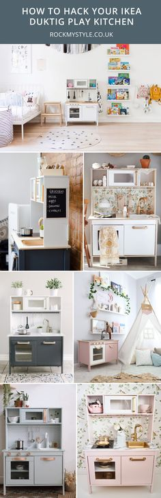 The Best Ikea Play Kitchen Hacks And How to Recreate them is part of children Toys Ikea Hacks - How to hack your Ikea Duktig play kitchen Ikea Baby Room, Ikea Nursery, Baby Room Furniture, Ikea Kids Kitchen, Kitchen Hacks, Ikea Childrens Kitchen, Kitchen Ideas, Ikea Duktig, Ikea Toys